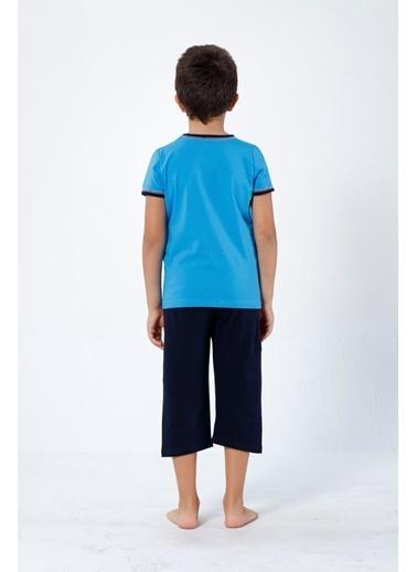 Siyah İnci Pijama Takım Turkuaz